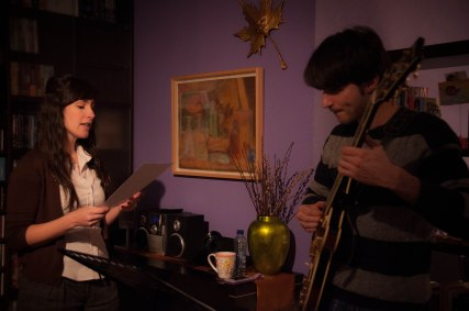 Rehearsing before the big night by Veronica Lopez