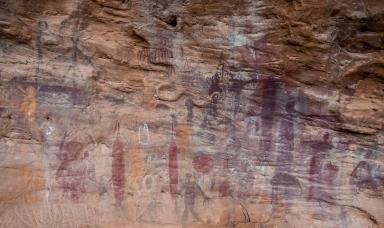 Split Rock's aboriginal art. Photo by Veronica Lopez