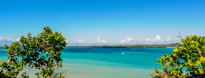 The colour of the water is amazing: all the shades of blue...