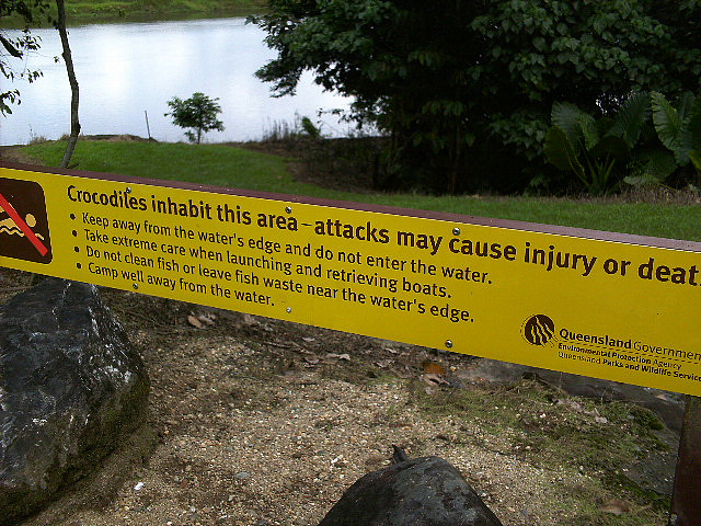 Crocodile warning sign. Photo via Flikr
