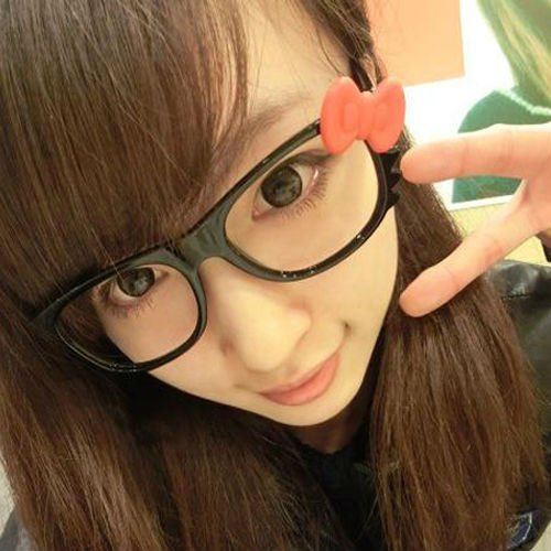 Interesting Hong Kong fad, wearing frames without lenses. Photo via Aliexpress.com